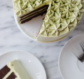 Dark Chocolate Matcha Cake