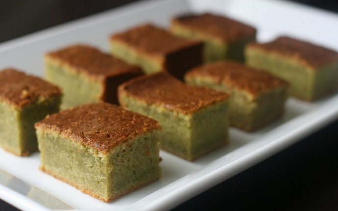 Steamed green tea cake recipe