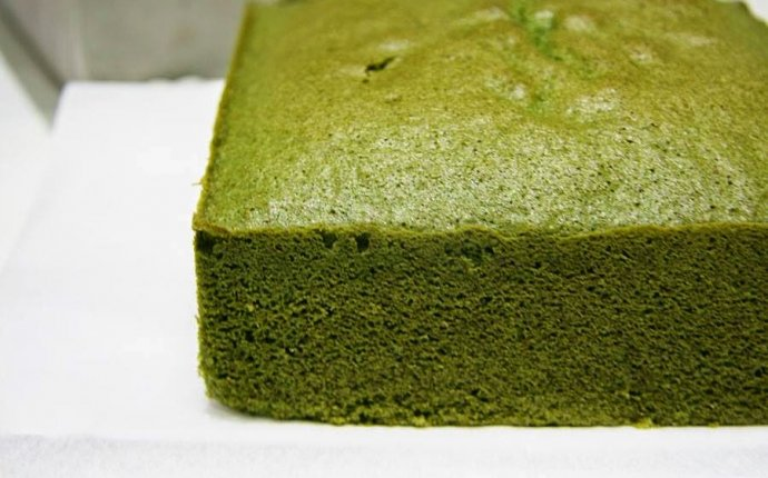 Matcha green tea sponge cake recipe